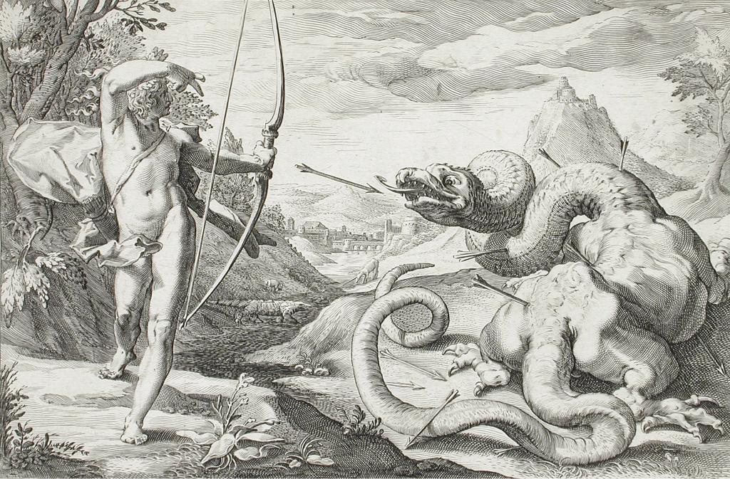 Dekorativ bild i antik stil